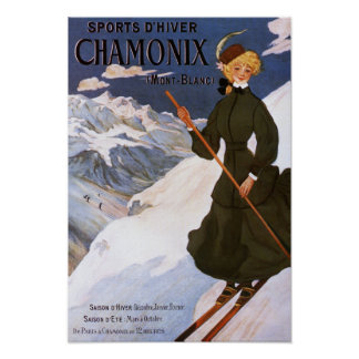 Femme en affiche verte de ski