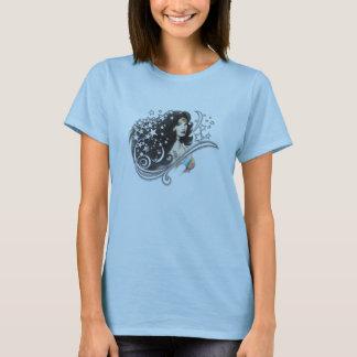 Femme et étoiles de merveille t-shirt