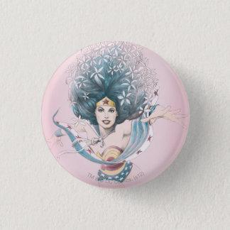 Femme et fleurs de merveille badges