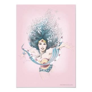 Femme et fleurs de merveille carton d'invitation  12,7 cm x 17,78 cm
