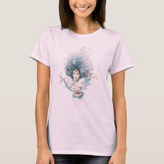 Femme et fleurs de merveille t-shirt