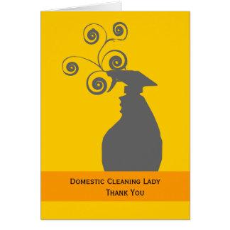 Femme et ménage de ménage carte de vœux