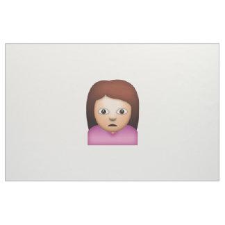 Femme fronçant les sourcils - Emoji Tissu