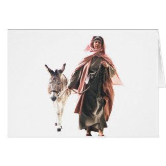 Femme hébreue avec l'âne - l'entrée de Jérusalem Cartes