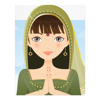 Femme indienne prospectus en couleur