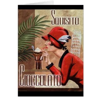 Femme italienne de chocolat de Squisito Cioccolato Cartes