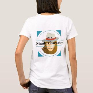 Femme louche de mystère de caractère t-shirt