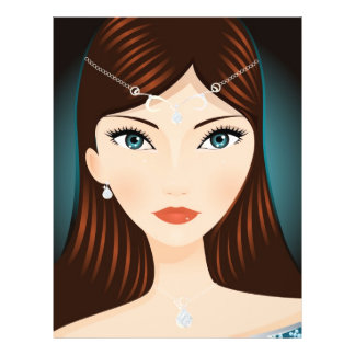 Femme médiévale prospectus customisé