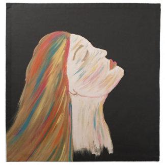 Femme multicolore serviettes en tissus