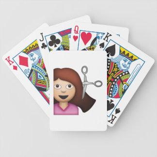 Femme obtenant la coupe de cheveux - Emoji Jeu De Cartes