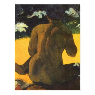 Femme par la mer par Paul Gauguin, beaux-arts Cartes Postales