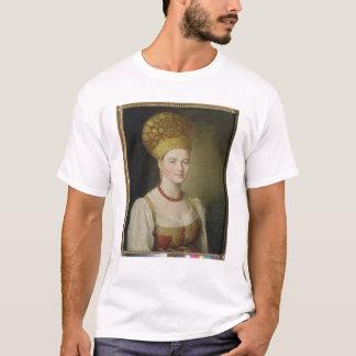 Femme rurale dans le costume russe, 1784 t-shirt