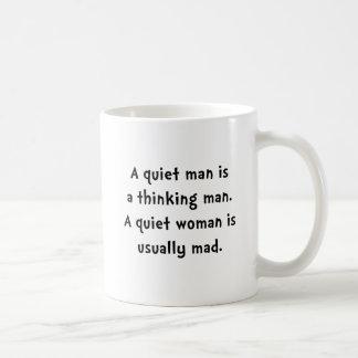 Femme tranquille folle mug blanc