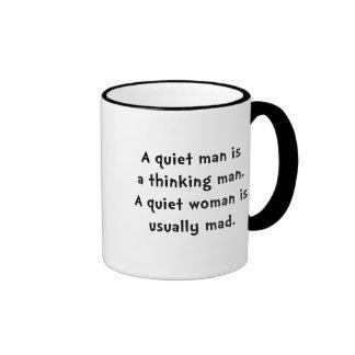 Femme tranquille folle mug ringer