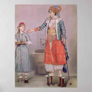 Femme turque avec son employé posters