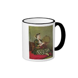 Femme turque avec un tambour de basque mugs à café
