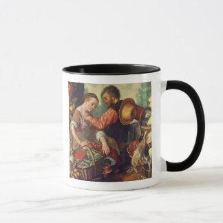 Femme vendant les légumes, 1567 (huile sur la mug