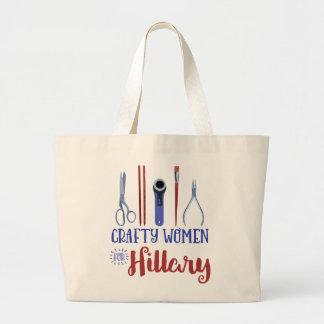 Femmes astucieuses pour Hillary Fourre-tout Grand Tote Bag