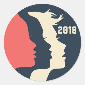Femmes autocollant en mars 2018
