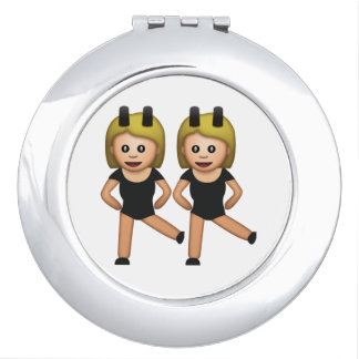 Femmes avec le lapin - Emoji Miroir De Poche