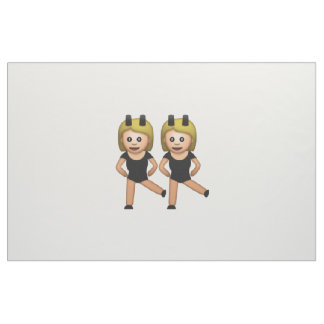 Femmes avec le lapin - Emoji Tissu