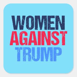 Femmes contre l'atout sticker carré