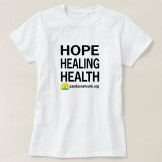 Femmes curatives de T-shirt de santé d'espoir