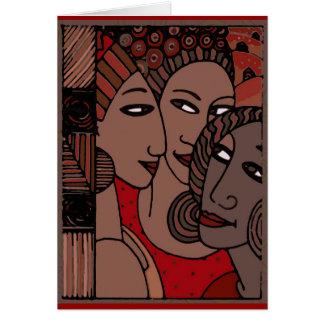 Femmes d'Afro-américain Carte De Vœux