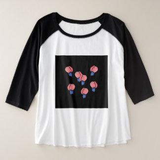 Femmes de ballons à air plus le T-shirt de raglan