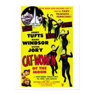 """""""Femmes de chat carte postale de lune"""""""