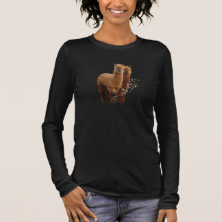 Femmes de chemise d'alpaga plus t-shirt à manches longues