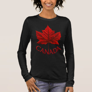 Femmes de chemise du Canada plus le souvenir T du T-shirt À Manches Longues