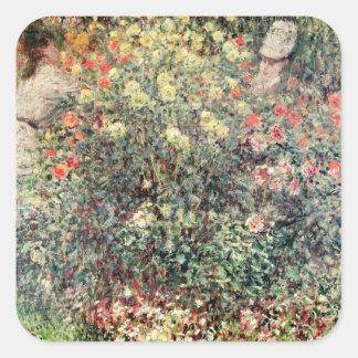 Femmes de Claude Monet | en fleurs, 1875 Sticker Carré