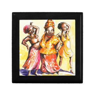 Femmes de danse petite boîte à bijoux carrée