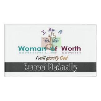 Femmes de en valeur badge nominatif