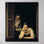 Femmes de Galicie à la fenêtre, 1670 Poster