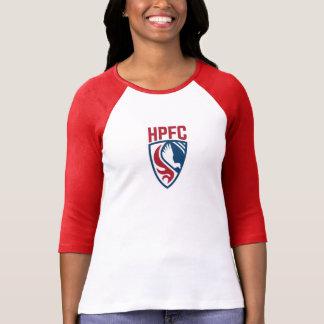 Femmes de HPFC rouges et pièce en t blanche de T-shirt