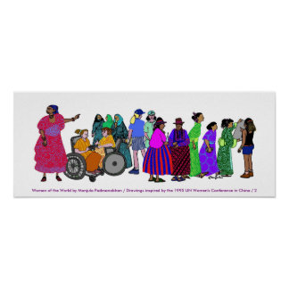 Femmes de l'AFFICHE du monde - 2 Poster
