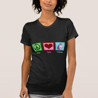 Femmes de licornes d'amour de paix t-shirt