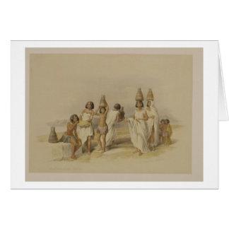 Femmes de Nubian chez Kortie sur le Nil, de Carte De Vœux