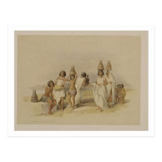Femmes de Nubian chez Kortie sur le Nil, de Carte Postale