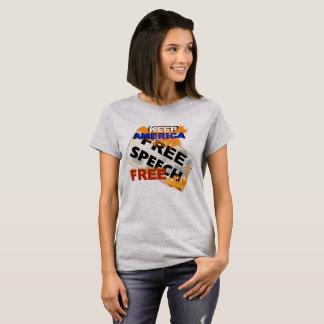 Femmes de pièce en t de liberté de parole t-shirt