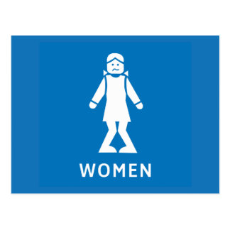 Femmes de toilette publique, signe, la Californie, Cartes Postales