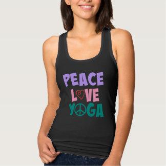 Femmes de yoga d'amour de paix adaptées débardeur