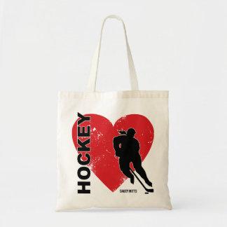 Femmes d'hockey de coeur d'amour sacs