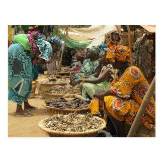 Femmes du Mali au marché de lundi, Djenne-3 Carte Postale