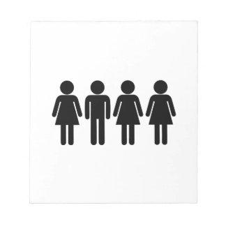 Femmes du polygame 3 d'épouses de soeur 1 homme bloc-note