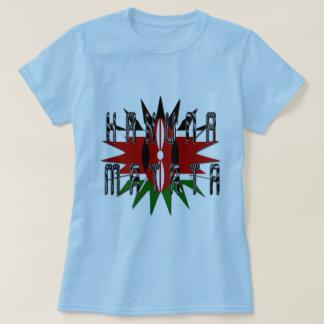 Femmes élégantes Jambo bleu de base Kenya Hakuna T-shirt
