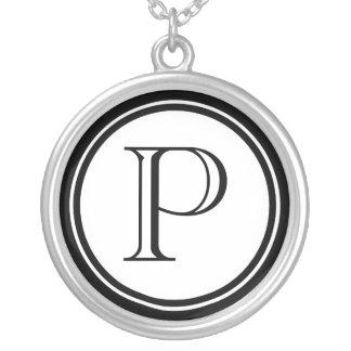 Femmes initiales pendentif rond