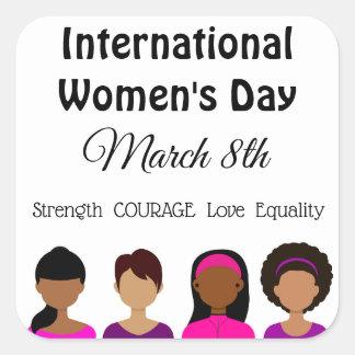 Femmes internationales jour autocollants du 8 mars
